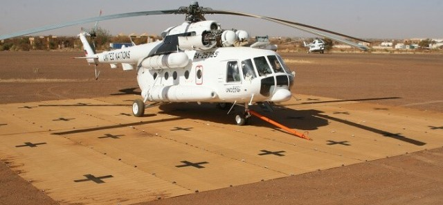helicopter landing mat for defence