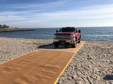 Beach Access mats for vehicle