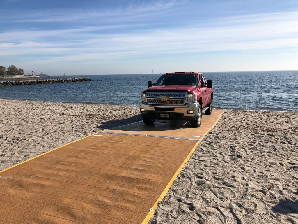 Beach Access mats for vehicle