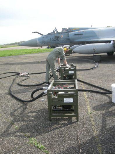 Aircraft fuel transfer pump, filters