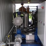 Aircraft fuel transfer pump filters in container