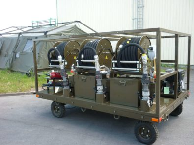 Aircraft refueler on trailer