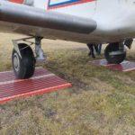Aircraft temporary road mat