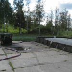 Aviation fuel farm, collapsible fuel tanks, containment tanks
