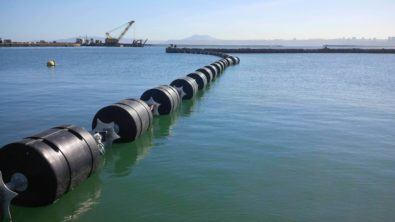 Floating security barriers for port
