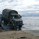 Beach access mats for heavy vehicle