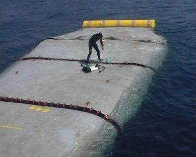 Floating storage fuel tanks
