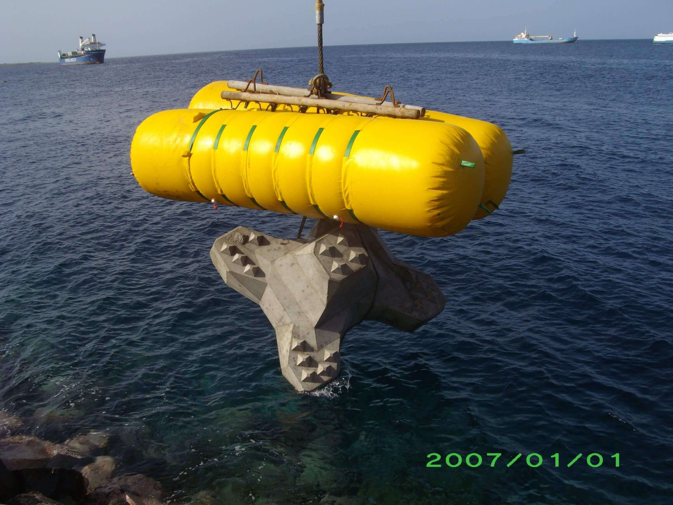 Buoyancy bag heavy load