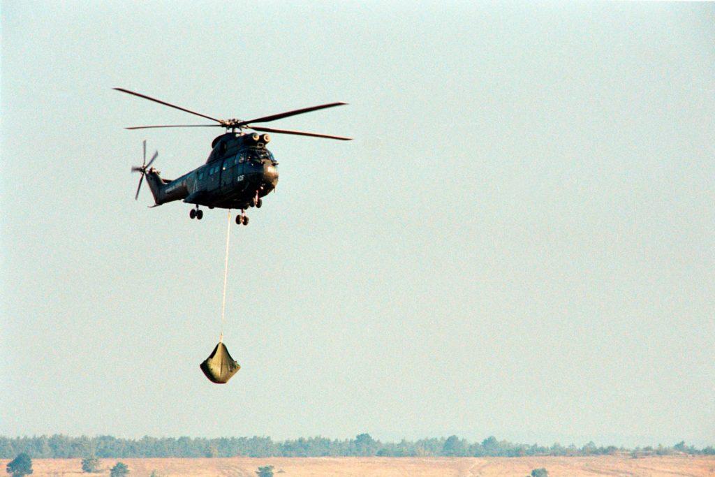 Fuel bladder heli transportable