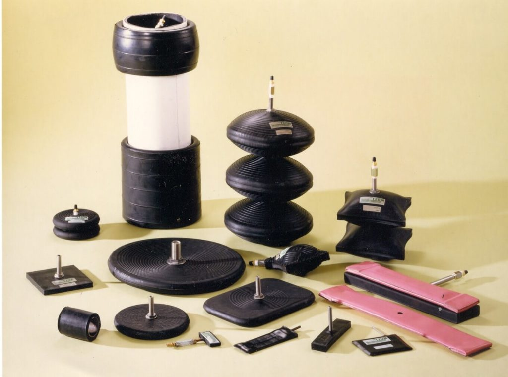 pneumatic cylinders, Inflatable jack range & inflatable seals custom made in rubber