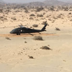 Mobile helipad blackhawk helicopter