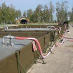 Flexible fuel tank- pumps